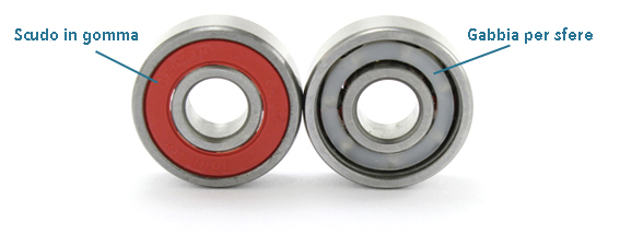 Longboard Bearing Seal and Retainer (Crown)